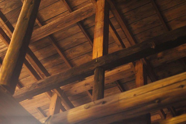 片山酒造酒蔵の天井