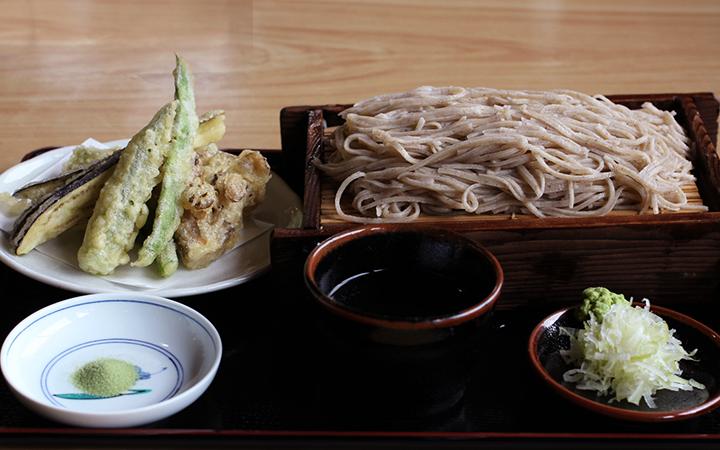 もりそばとミニ天ぷら盛り