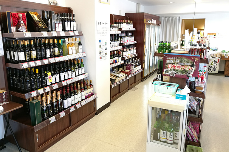 アルプスワイン 店内