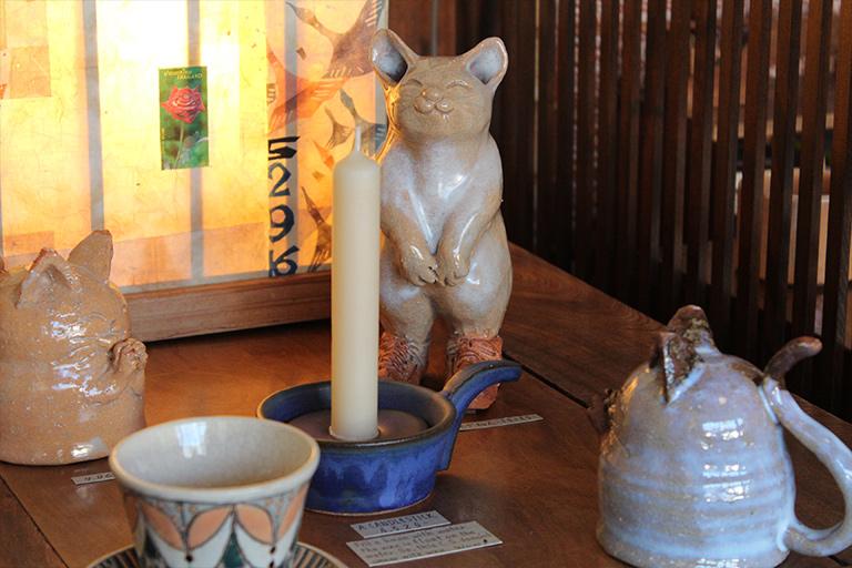 陶片木 燭台