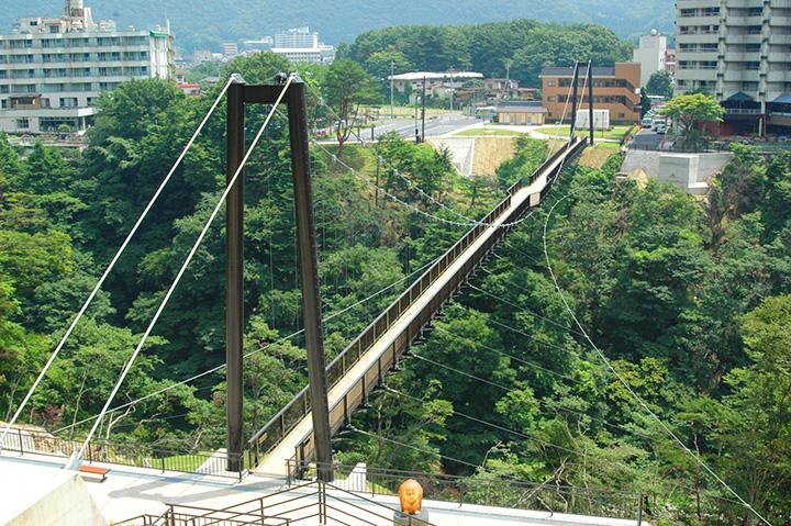 スリリングな空中散歩気分が味わえる、鬼怒楯岩大吊橋