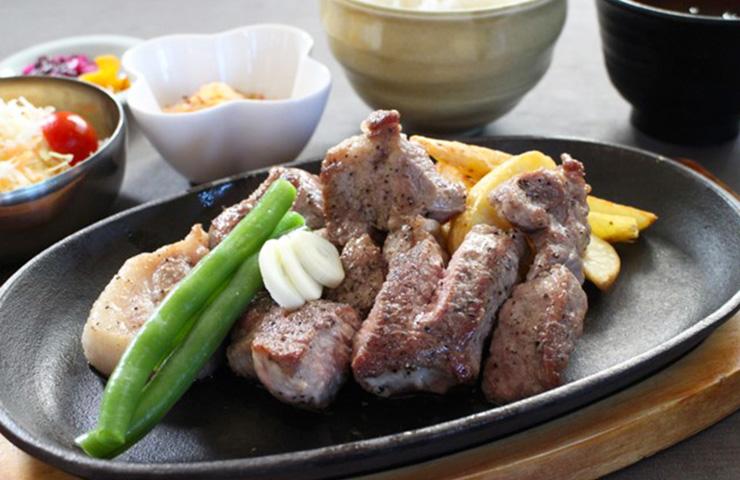 信州吟醸豚ステーキセット