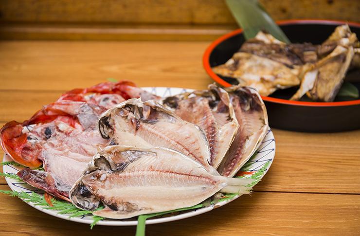 魚久「自家製の干物」