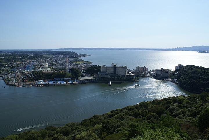ロープウェイで上空から見た浜名湖