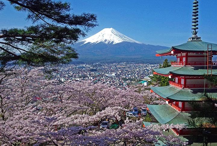 河口湖(富士五湖)の春(3~5月)の気温・服装について