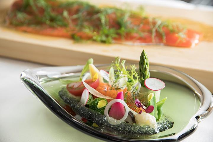 ランチコース3,900円(税別)の前菜の一例