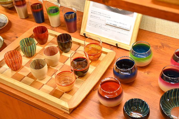 ガラス胎漆器のタンブラー5,620円~