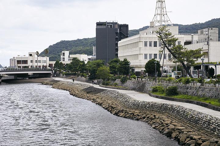 現在の伊東・松川河口付近