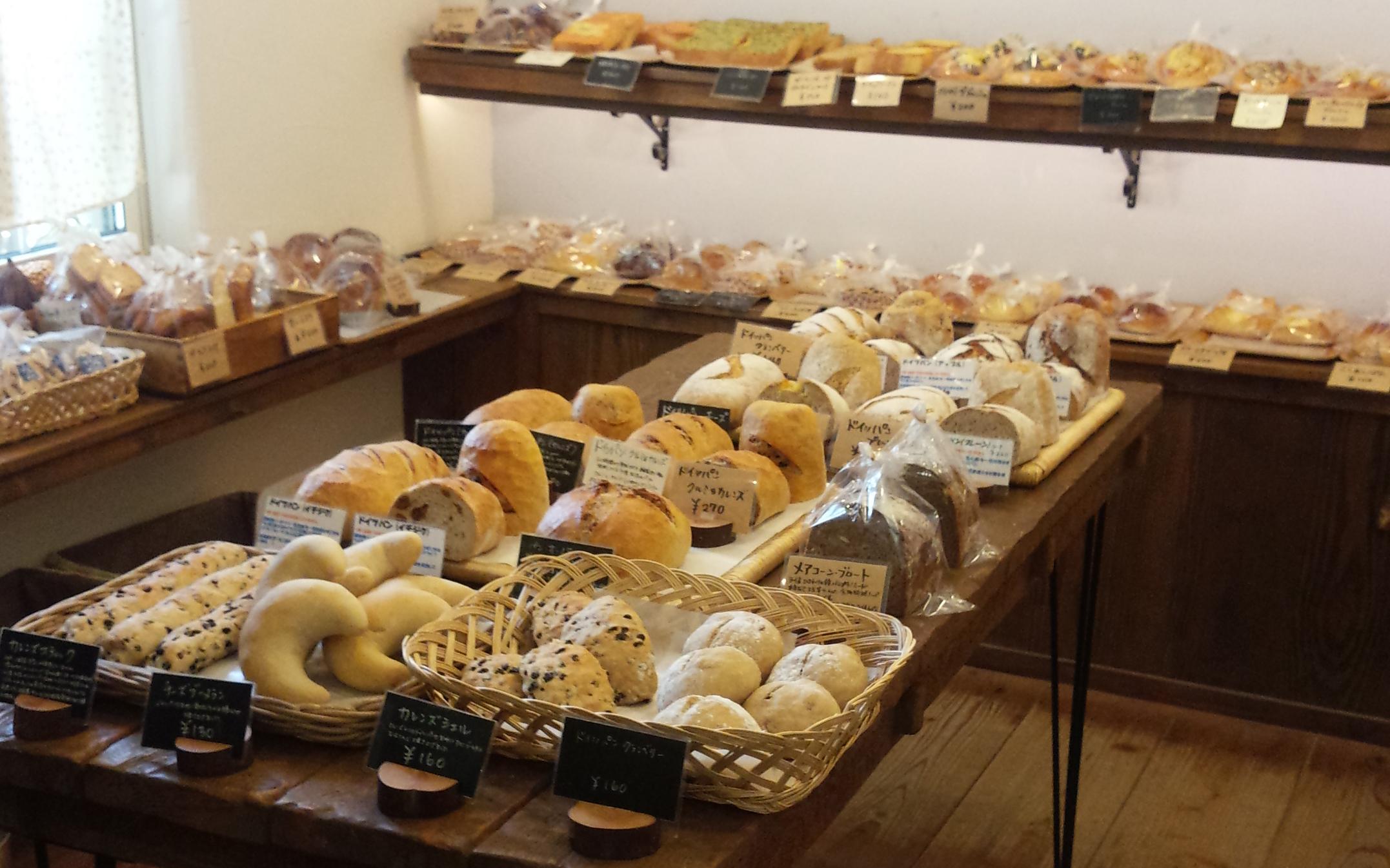品揃え豊富な手作りパン