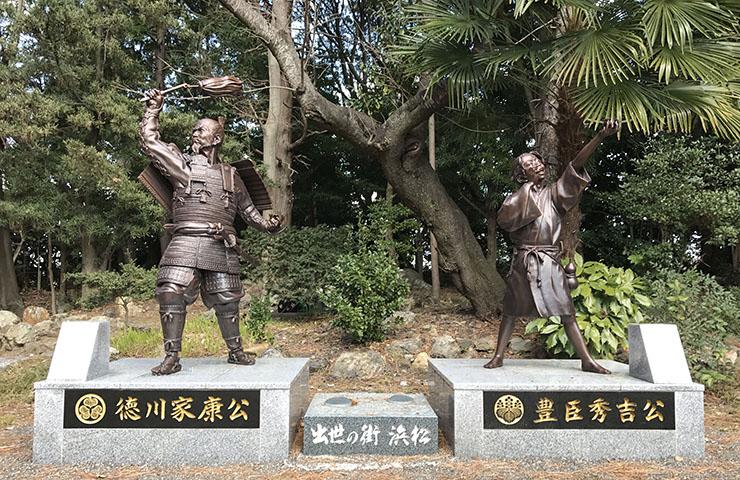徳川家康と豊臣秀吉の二公像