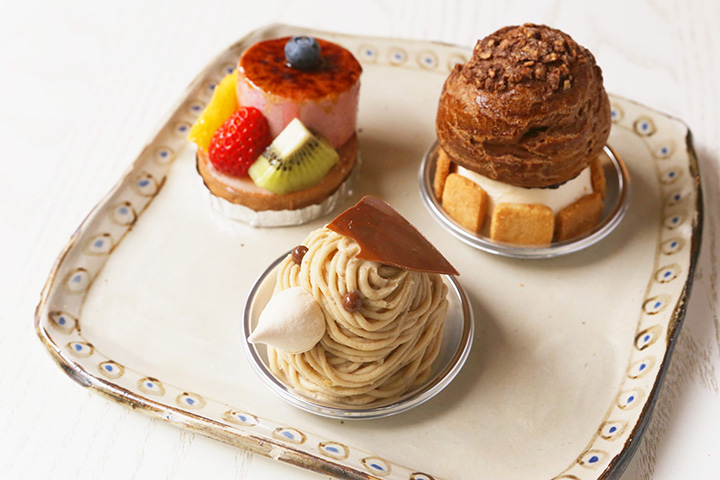 パティシエ自慢の彩り鮮やかなフレッシュケーキ