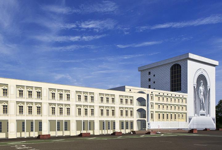 建物そのものが作品となっている「トリックアート美術館」