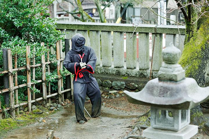 忍者は参拝するお殿様の警護にあたっていたといわれる