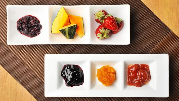 こだわりのジャムは、フルーツ、野菜、木の実など多彩