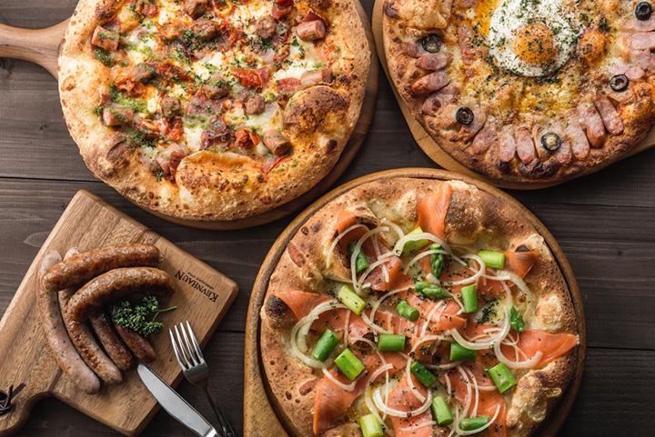 ピザは17種類の他、季節ごとに限定メニューも登場