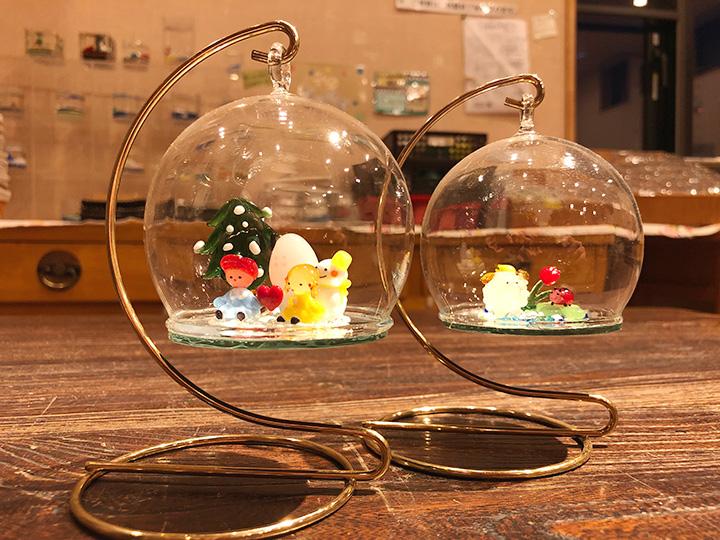 ミニチュアドーム創作体験1,500円(中に入れるミニチュアガラスは別途購入)