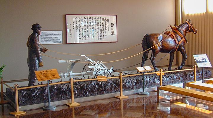 昭和20年代後半の馬を使った貴重な耕運機
