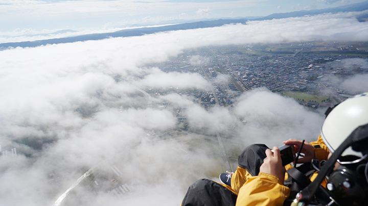 上昇気流に乗れば500~600mまで上がることができる