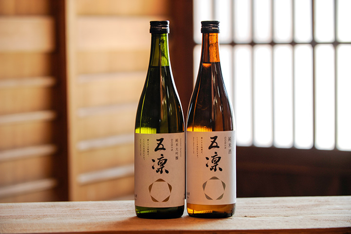 左から「五凛 純米大吟醸」、「五凛 純米酒」、共に720ml[