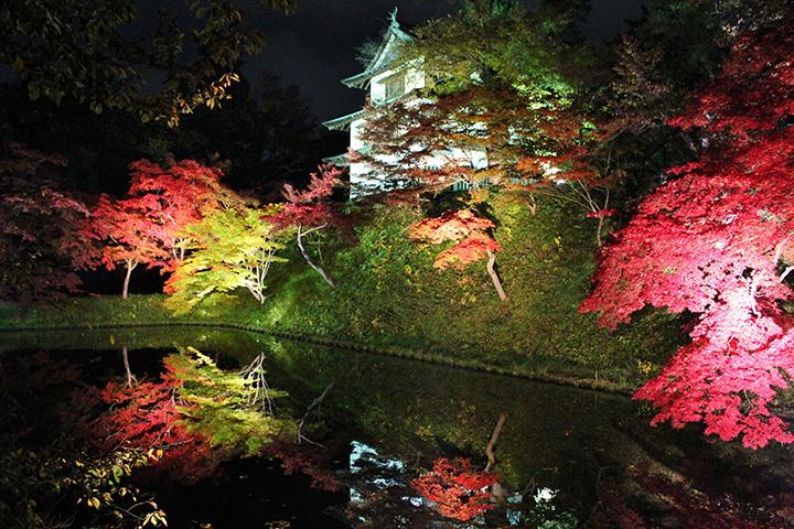 秋色に染まる古都・弘前のシンボル公園