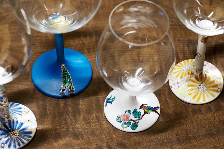 古九谷鳥紋の酒グラス(L)は18,360円