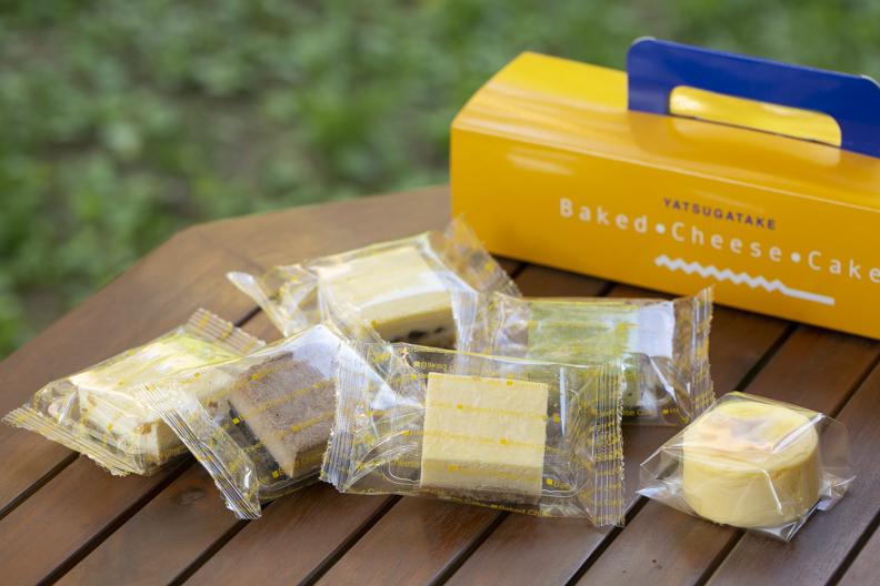 種類豊富な個包装のチーズケーキ