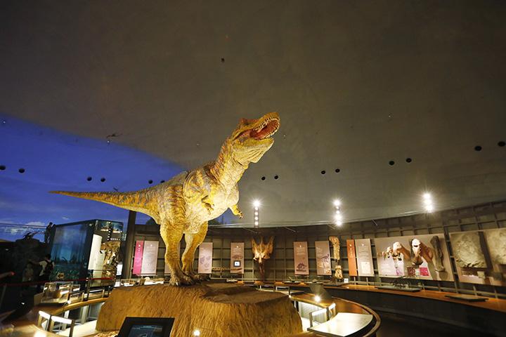 動くティラノサウルスは実物の4分の3スケール