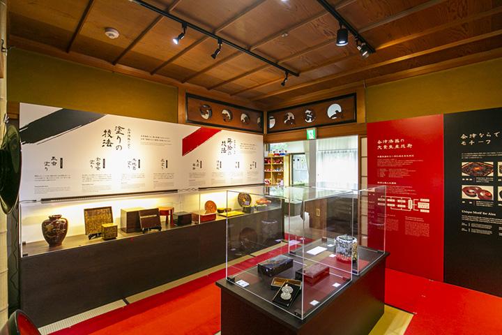 会津塗の博物館のような「会津塗伝承蔵」
