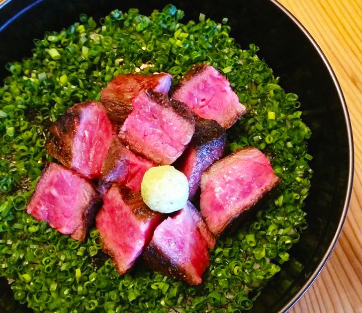 「国産牛ステーキのひつまぶし」1,900円