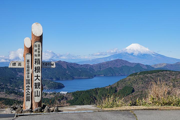 360°の絶景が望める「大観山展望台