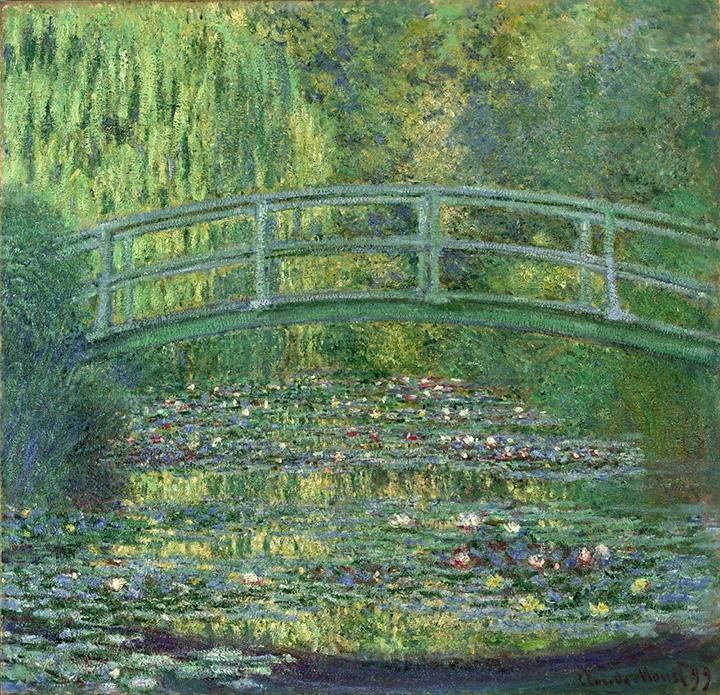 クロード・モネ「睡蓮の池」ポーラ美術館蔵 1899年 油彩/カンヴァス 88.6×91.9 cm