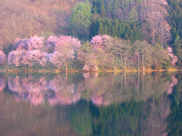 黄金の鐘の伝説が残る神秘的な湖
