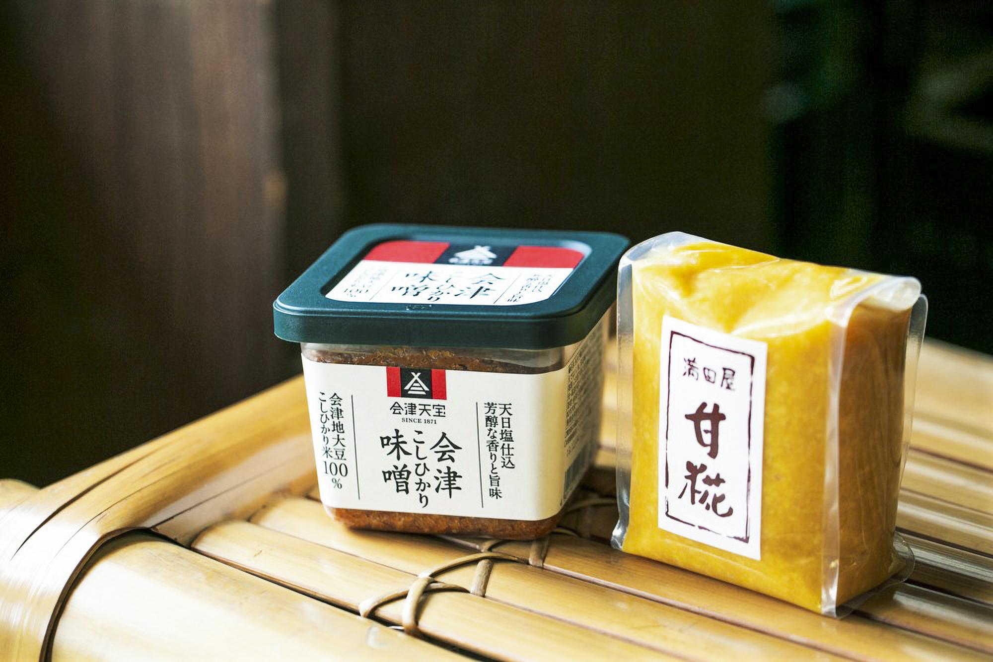 伝統製法で醸造した味噌が揃う