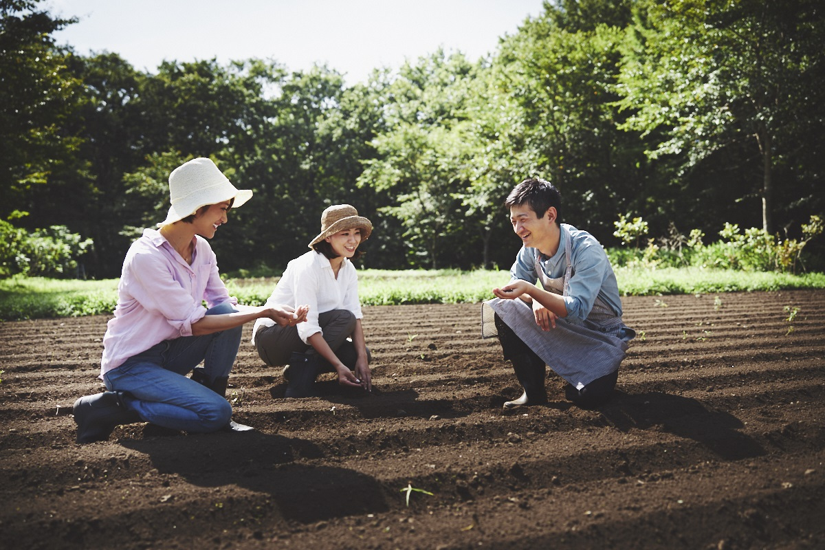 農作業体験ができる「ファーマーズレッスン」(無料)の他、様々なアクティビティが楽しめる