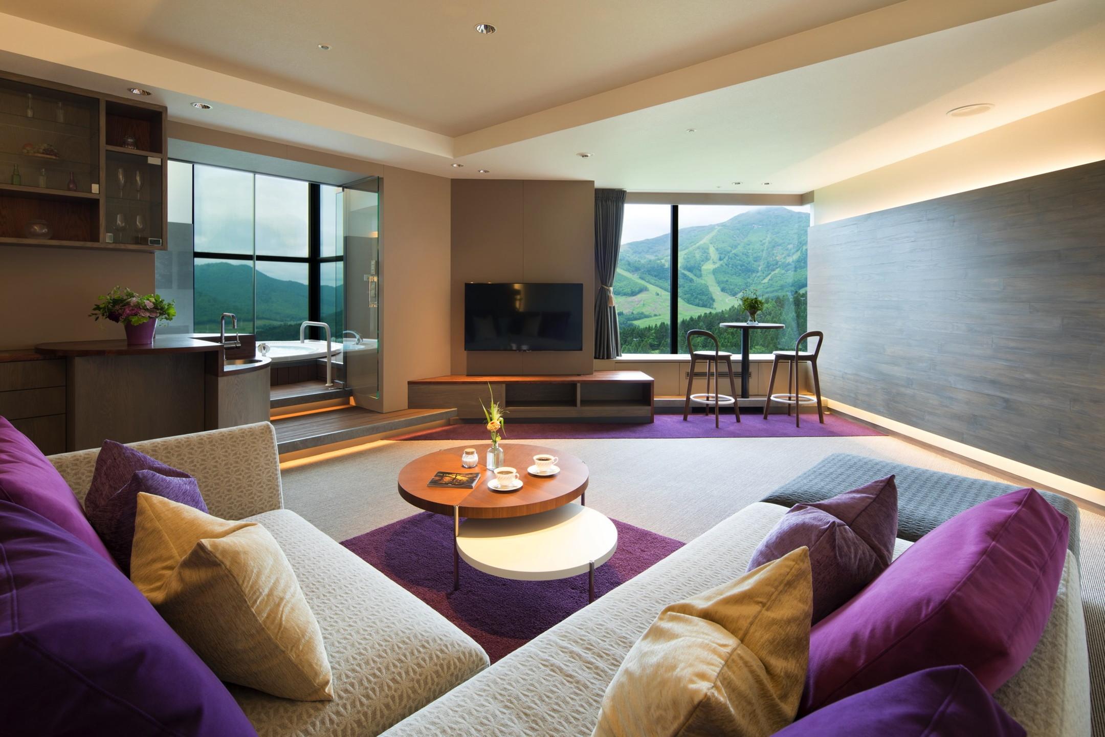 客室は100㎡以上のスイートルーム