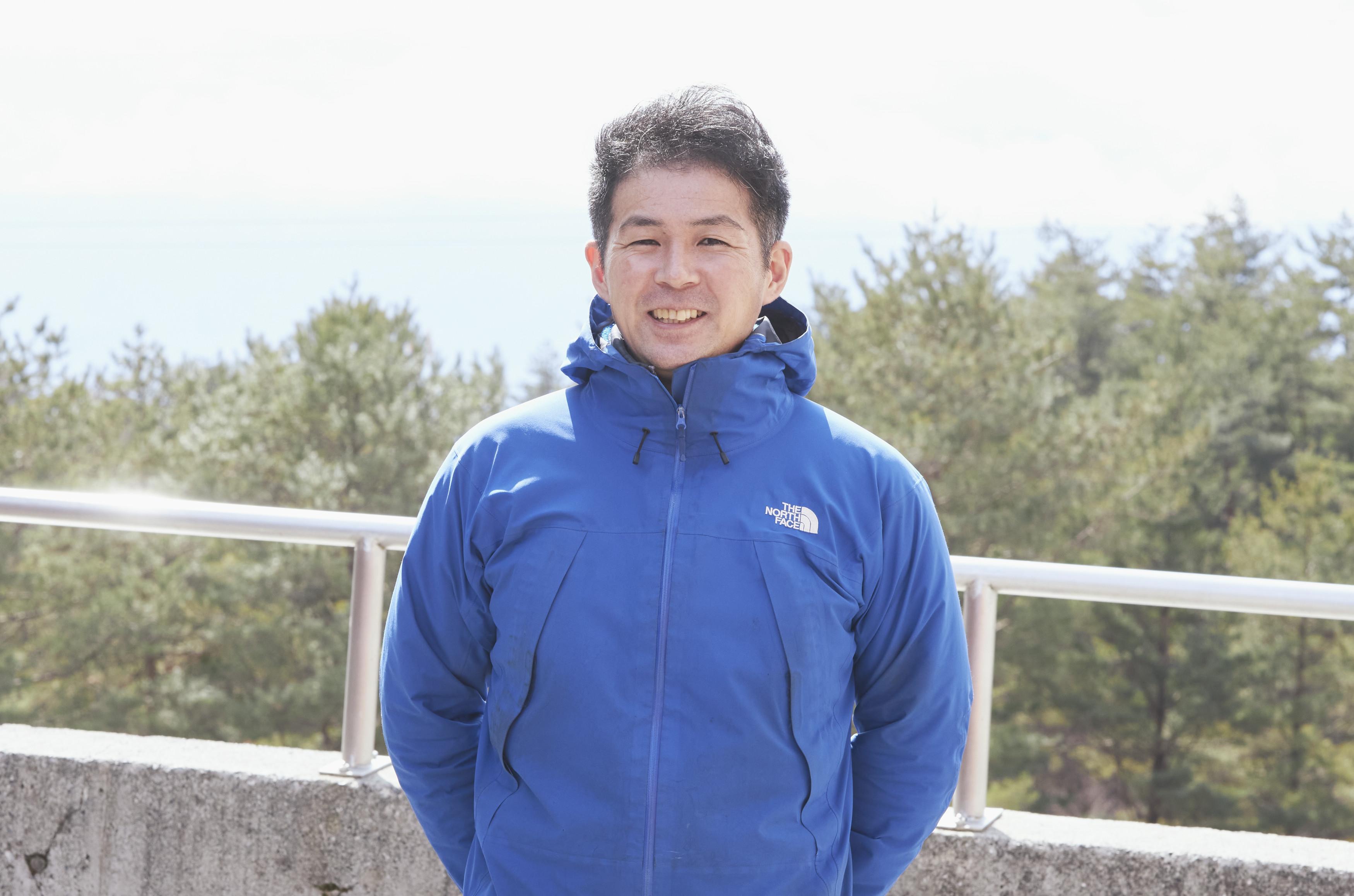 アクティビティユニットディレクター・間島竜也氏。「雪ッズ70」の開発を手掛けたベテランで子どもから人気