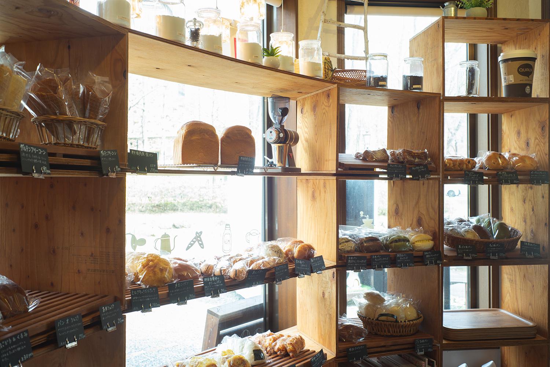パンに使用するお米や生乳は店主の実家で生産されたもの