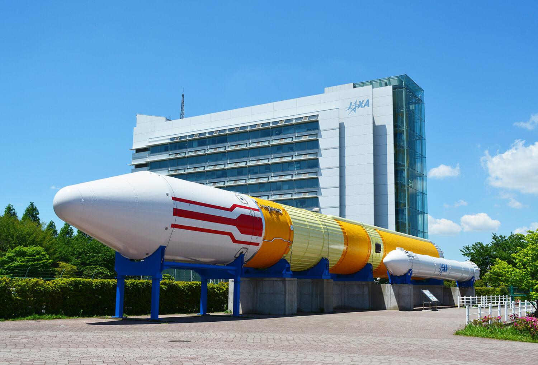 長さ50mの実物大「H-Ⅱロケット」は地上試験用として実際に使用されていたもの