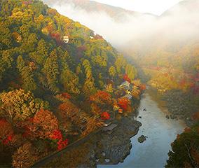 特等席から眺める嵐山の紅葉
