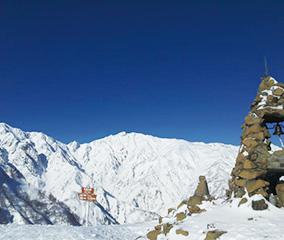 白馬で温泉旅館スキー