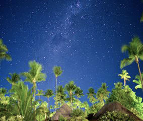 南国タヒチで見上げる眩い星空