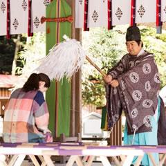 日吉大社で「神猿参拝」