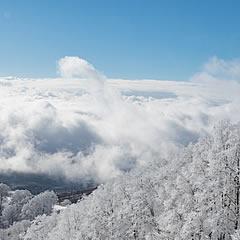 雪の絶景を愛でる「磐梯展望回廊」