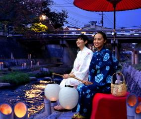 【界 出雲】竹あかりの灯る川で夕涼み