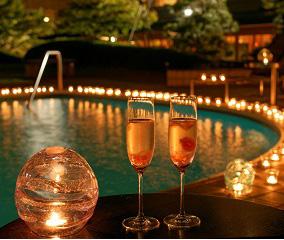 【界 伊東】源泉プールで過ごす夏の夜