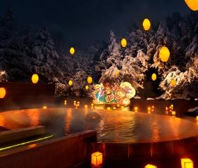 冬の風物詩「青森屋ねぶり流し灯篭」