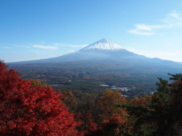 【星のや富士】紅葉富士のホーストレッキング_紅葉台