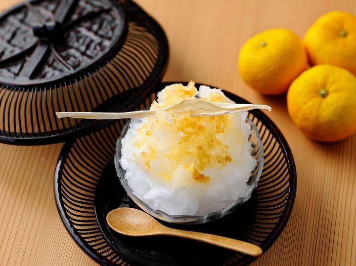 柚子かんぴょうかき氷