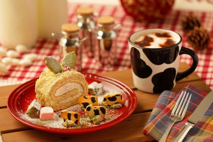 【トマム】牧場クリスマス_牧場クリスマス・ケーキセット のコピー