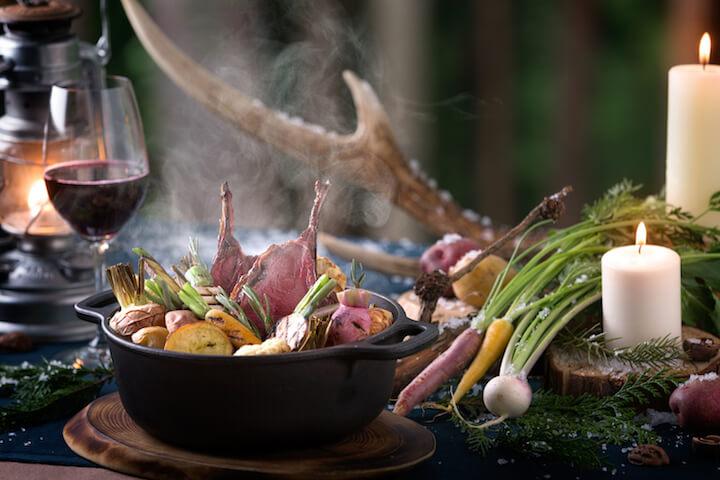 【星のや富士】冬の狩猟肉ディナー_メイン